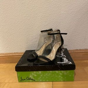 Sam Edelman Patti heel in black leather Size 6